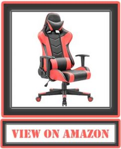 Devoko Ergonomic Gaming Chair Racing Style Adjustable Height High-Back PC Computer Chair with Headrest and Lumbar Support Executive Office Chair