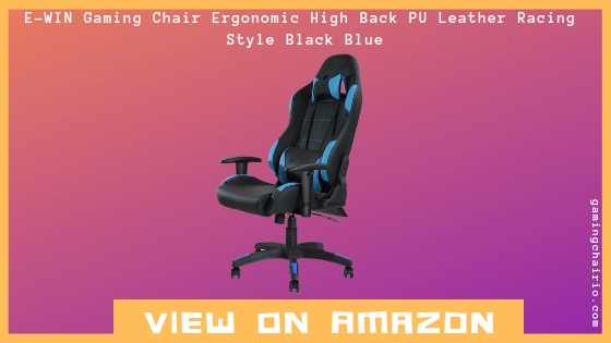 E-WIN Gaming Chair Ergonomic High back Black Blue