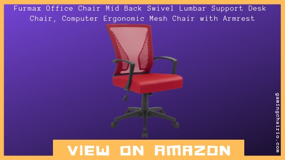 Review Furmax Office Chair Mid Back Swivel Lumbar Support