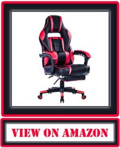 KILLABEE Reclining Memory Foam Racing Gaming Chair - Ergonomic High-Back Racing Computer Desk Office Chair with Retractable Footrest and Adjustable Lumbar Cushion