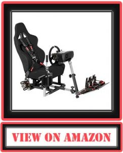 Openwheeler GEN2 Racing Wheel Stand Cockpit Black on Black | Fits All Logitech G29 | G920 | All Thrustmaster | All Fanatec Wheels by OpenWheeler